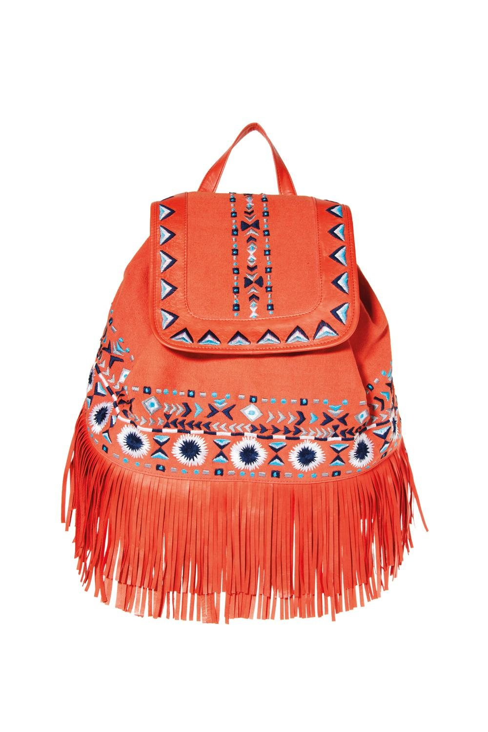 ASOS fringe detail backpack £38 March. Bolso