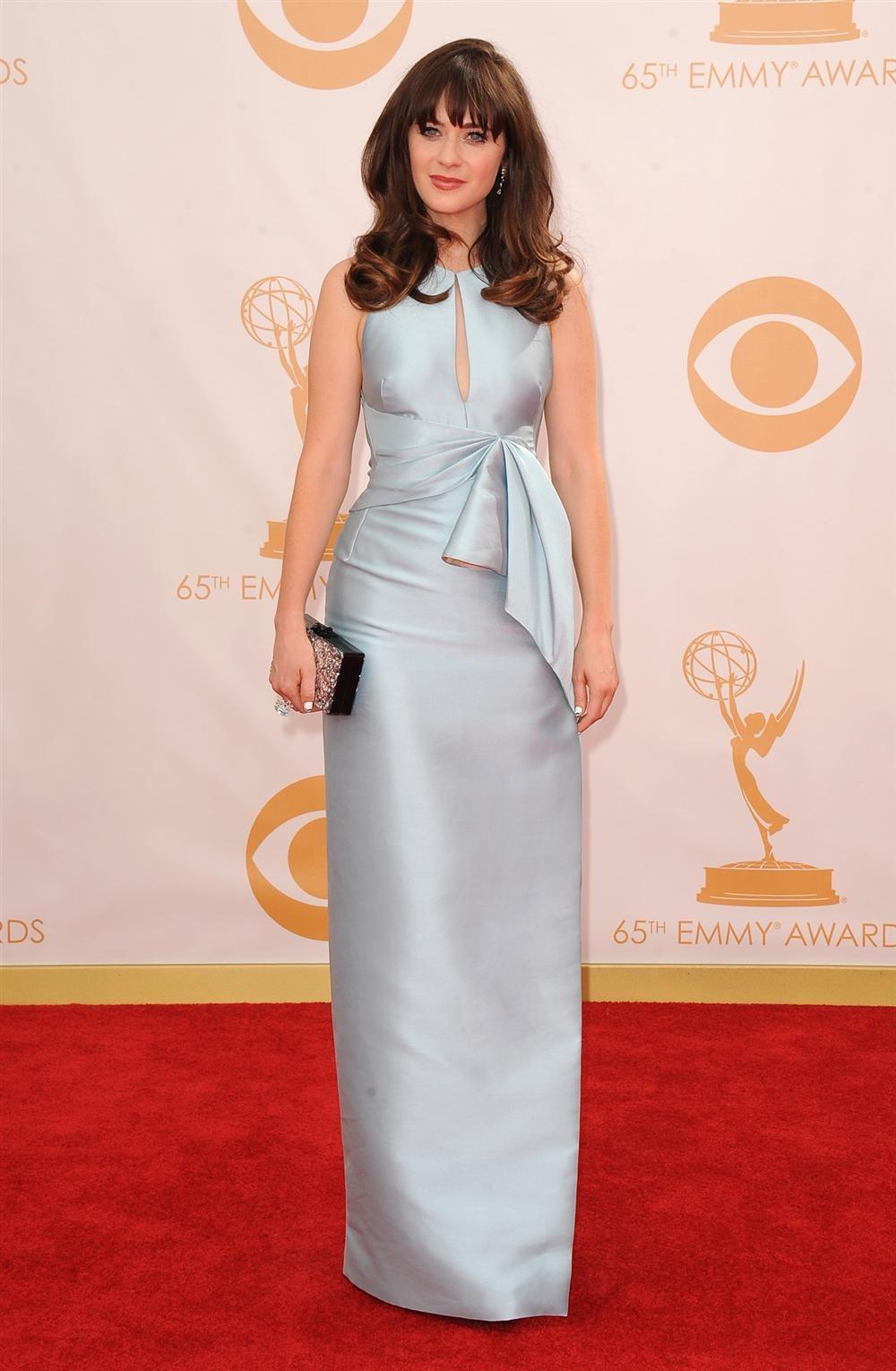 Zooey Deschanel Emmy 2013 Pasarela de los premio...
