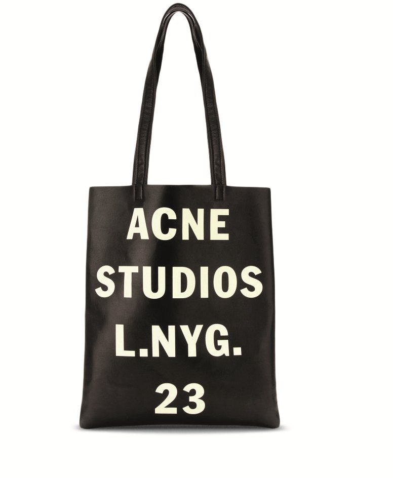 P00074617-RUMOR-METALLIC-LEATHER-TOTE-STANDARD. Acne