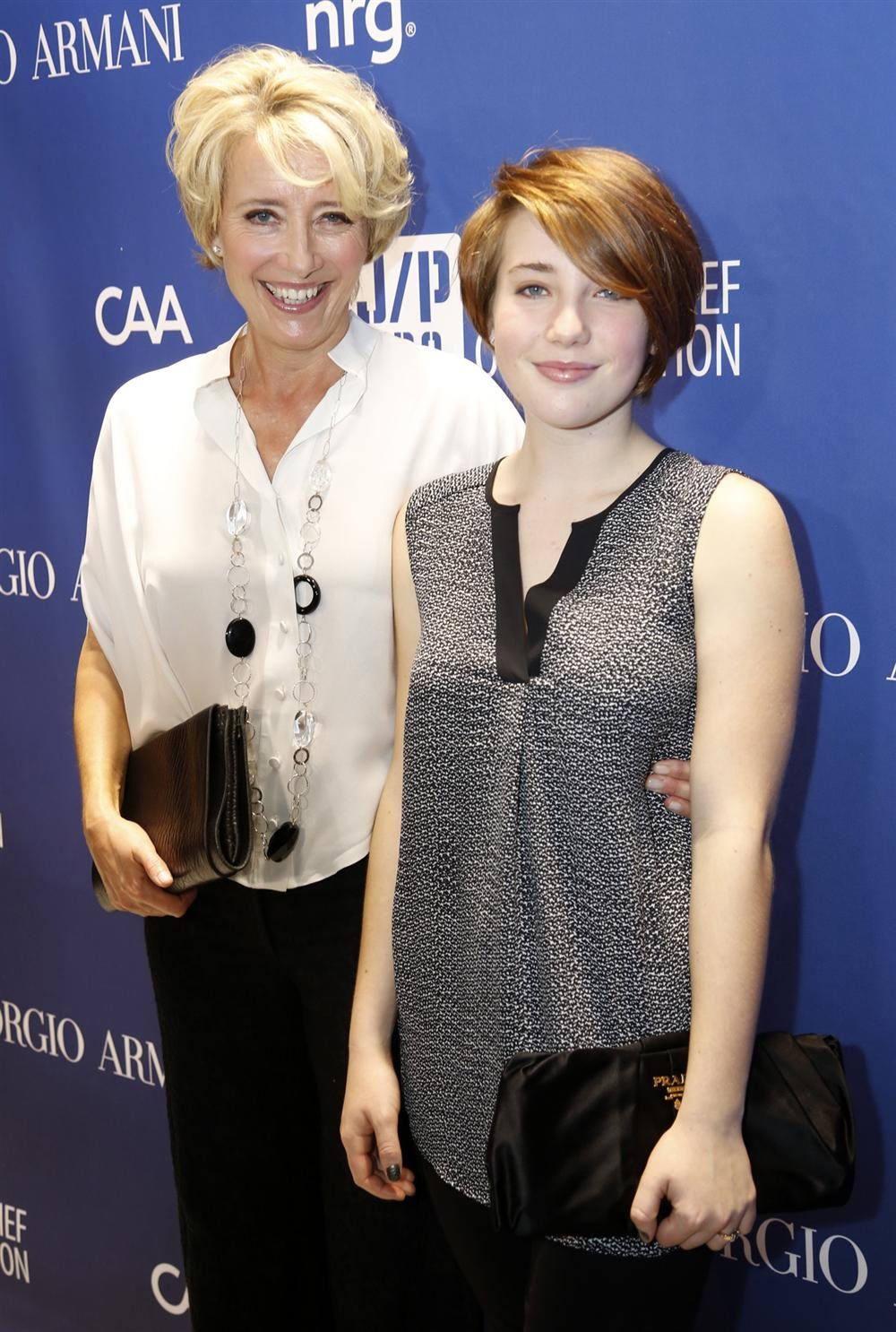 Emma Thompson con su hija. Emma Thompson