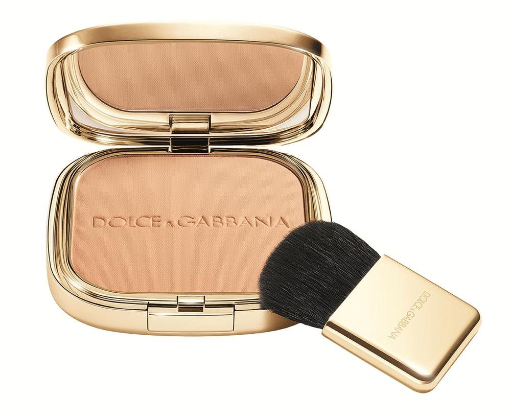 the powder Perfection Veil Pressed Powder CARAMEL 4 pack shot  low res. DOLCE & GABBANA, rosa y beige