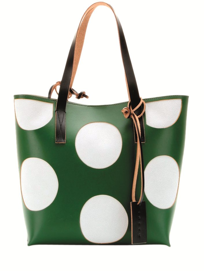 MYTHERESA- MARNIP00089369-Leather-shopper--STANDARD. Polka dots