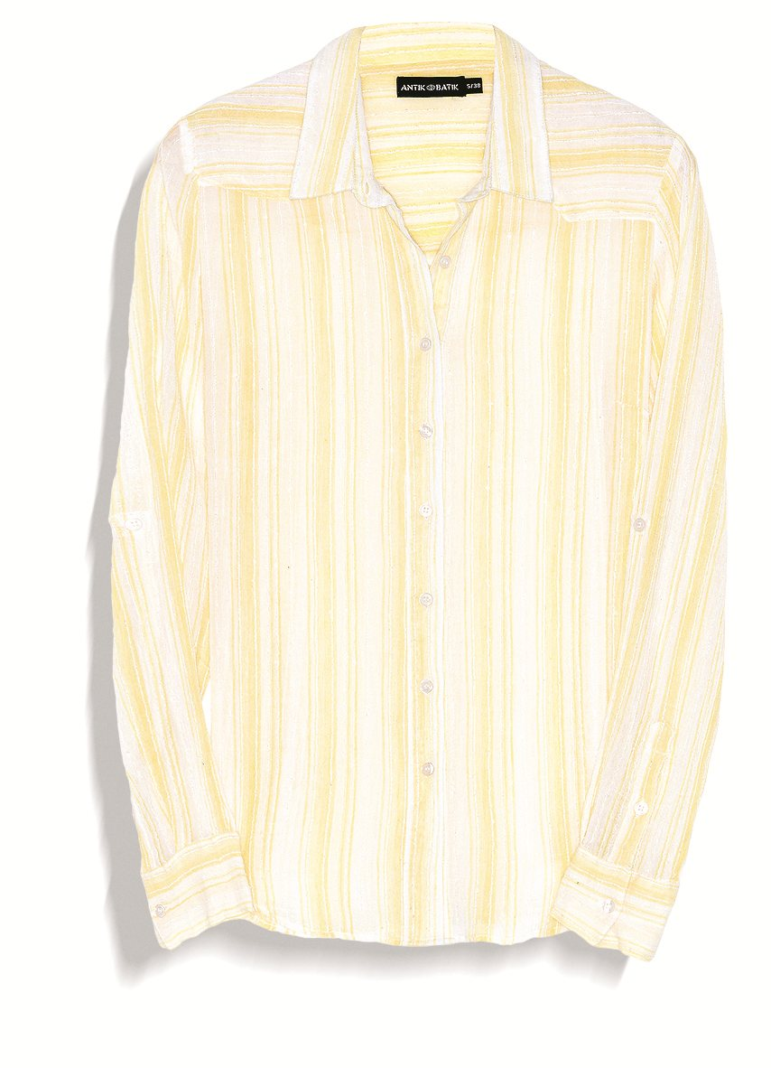 49.eddy shirt yellow. Blusa folk