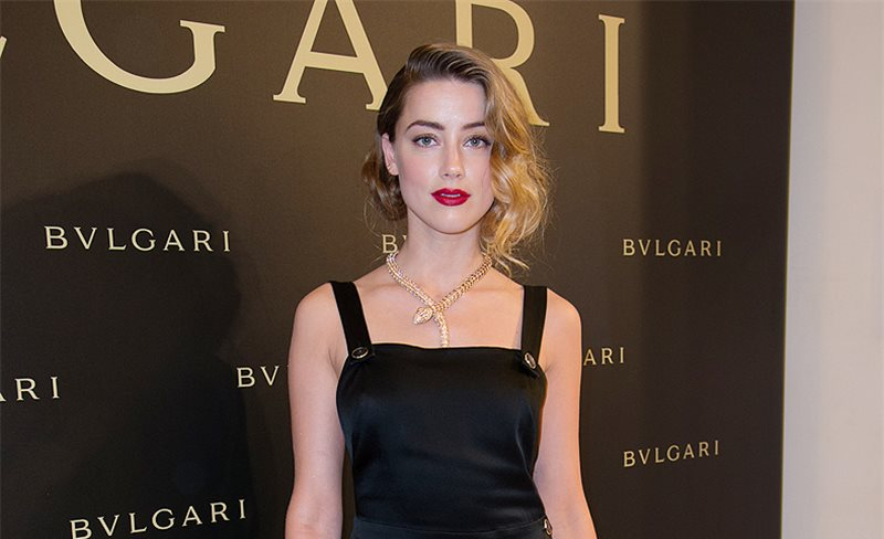 Amber Heard, de Temperley London