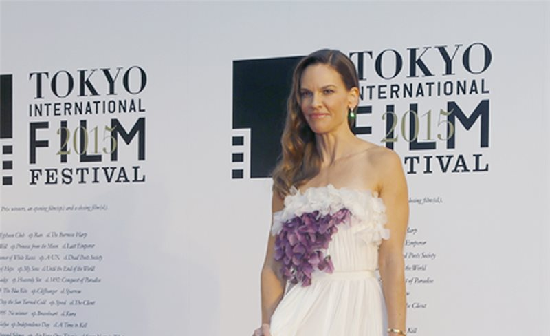 Hilary Swank, de Giambattista Valli Couture