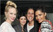 January Jones, Audrey Tautou, Isabel Marant y Freida PInto