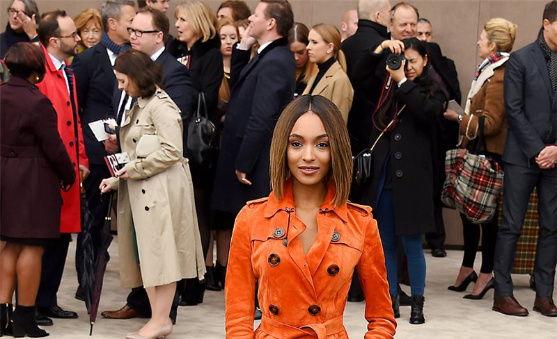 Jourdan Dunn, de Burberry