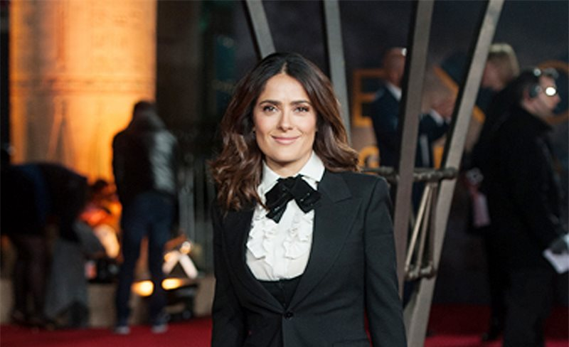 Salma Hayek, de Saint Laurent
