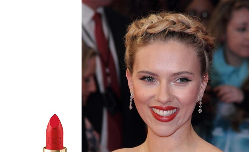 Los red lips de Scarlett
