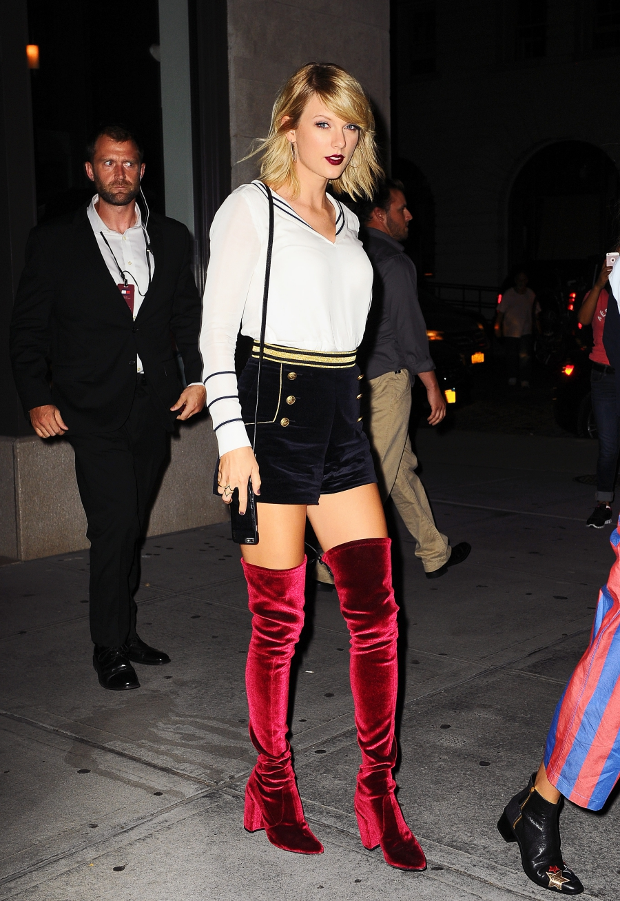 Singer Taylor Swift attending TommyHilfiger by XGigiRunway during New York Fashion Week. Taylor Swift