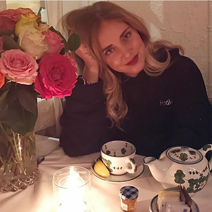 Chiara Ferragni en 'The Ivy Restaurant'