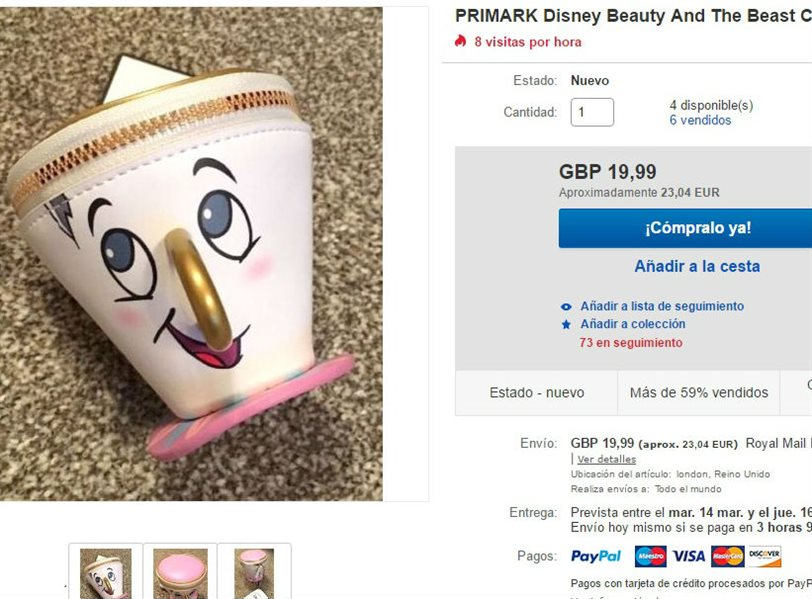 El monedero de 'Chip' en Ebay