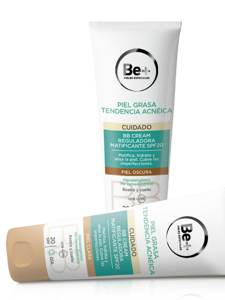 BB Cream Reguladora Matificante Piel Acneica, de Be+  (14 euros)