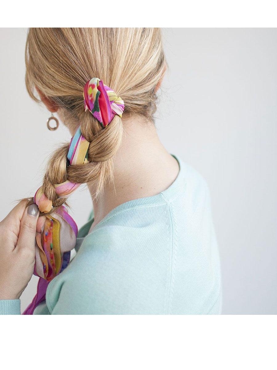 hairromance. Trenza tu pelo junto a tu pañuelo: el estilo más romántico