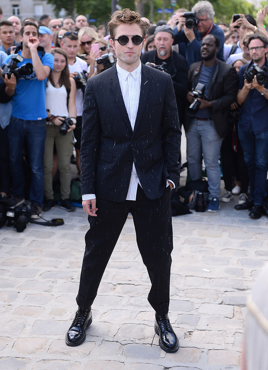 Robert Pattinson en el desfile de Alta Costura de Christian Dior. Robert Pattinson