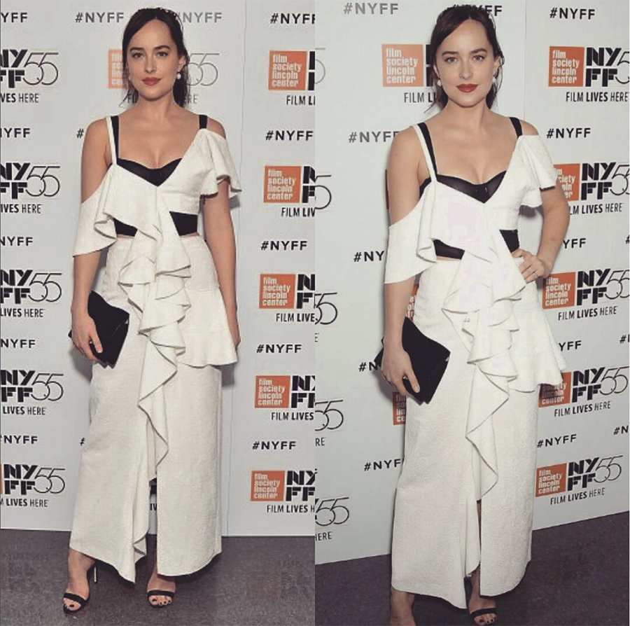 Dakota Johnson 03. Dakota Johnson y su look con lencería a la vista