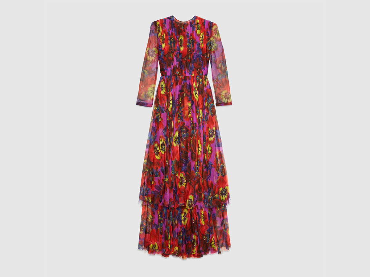 gucci dress. Flores por doquier