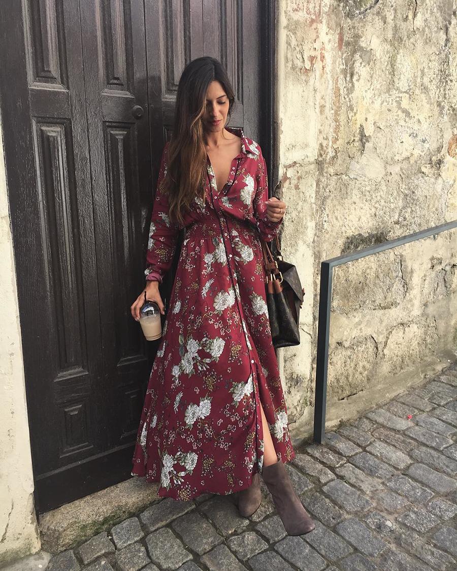 Los Vestidos De Flores También Son Para El Otoño Sara Carbonero Dixit