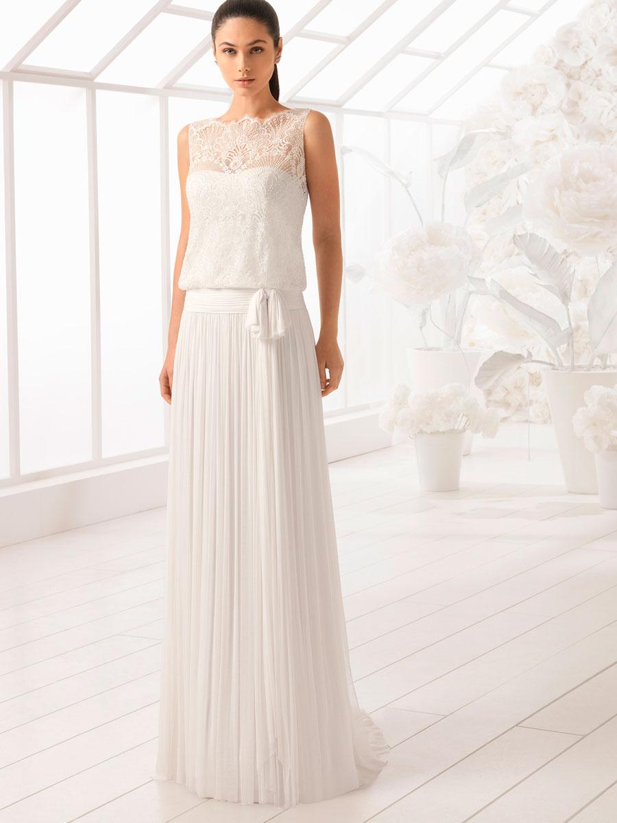 41bc1038b Vestidos y trajes blancos sencillos con los que podrías casarte ...
