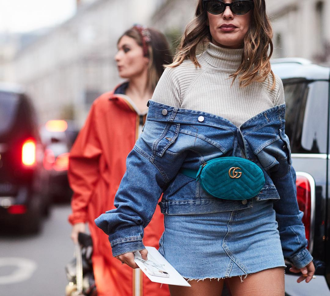 La influencer Dulceida con total look. 3. Denim sobre denim