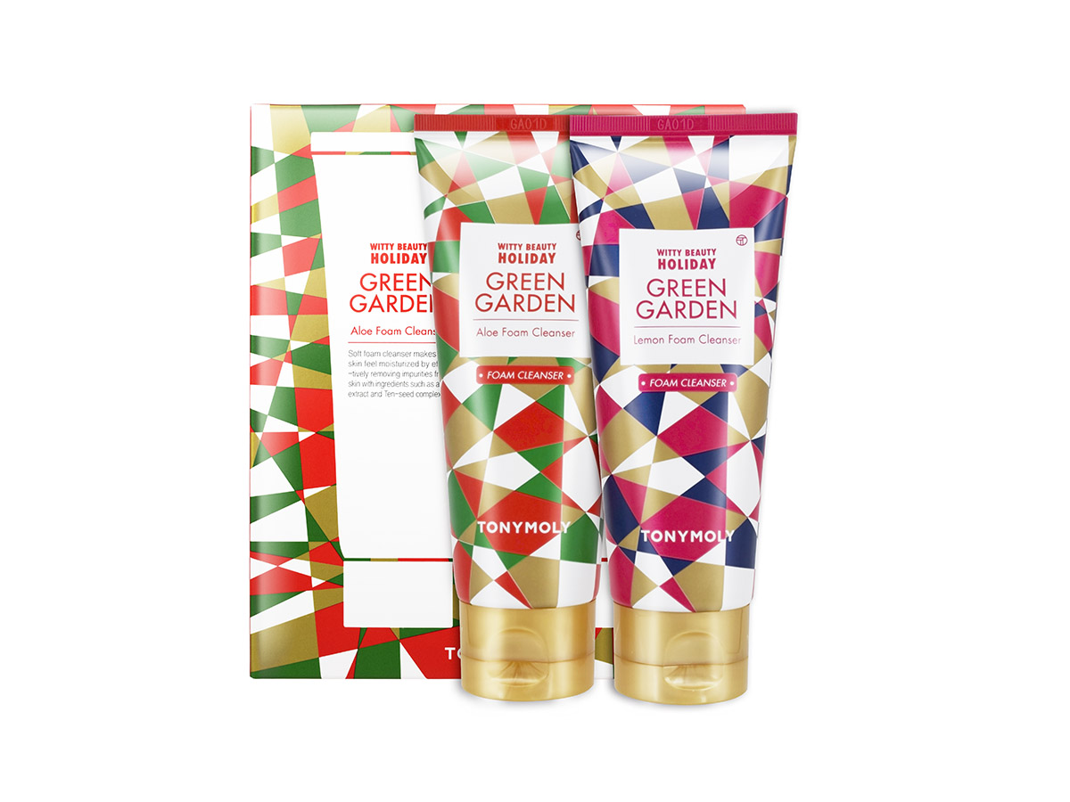 tonymoly. Pack de limpiadores faciales Witty Beauty Holiday Green Garden, de Tonymoly (6,50 €).