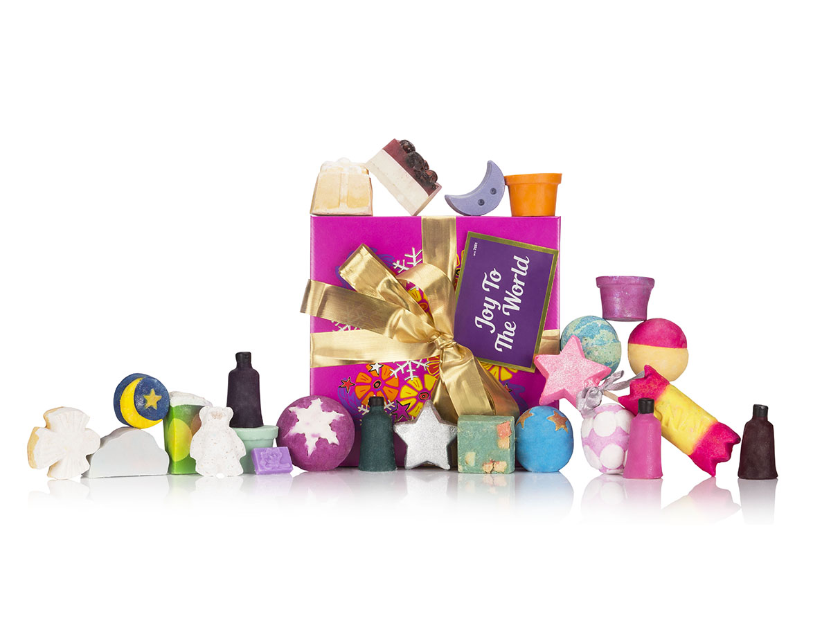 lush. Pack Joy to the World con 25 productos, de Lush (195€).