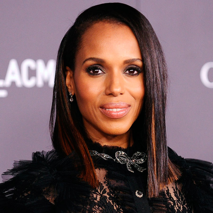 KerryWashington. 6. Reflejos color caramelo