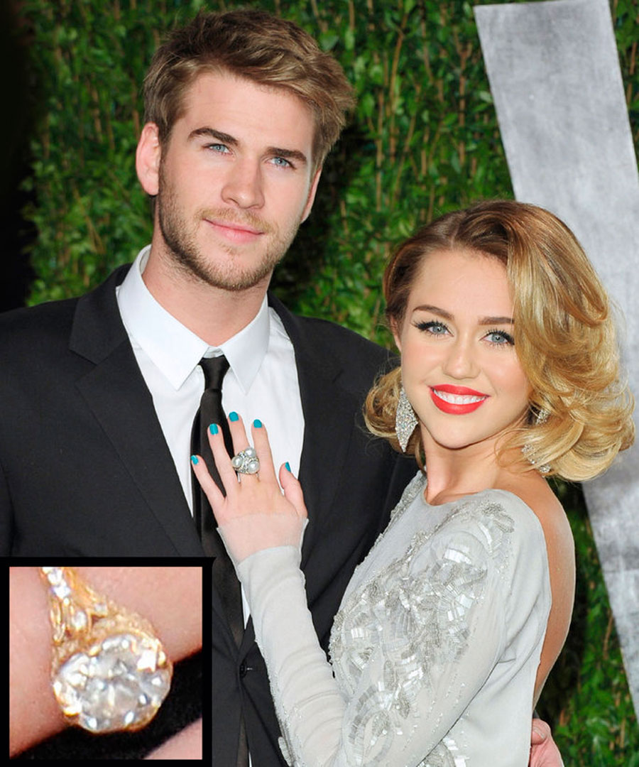 anillos-25. 25. Miley Cyrus y Liam Hemsworth