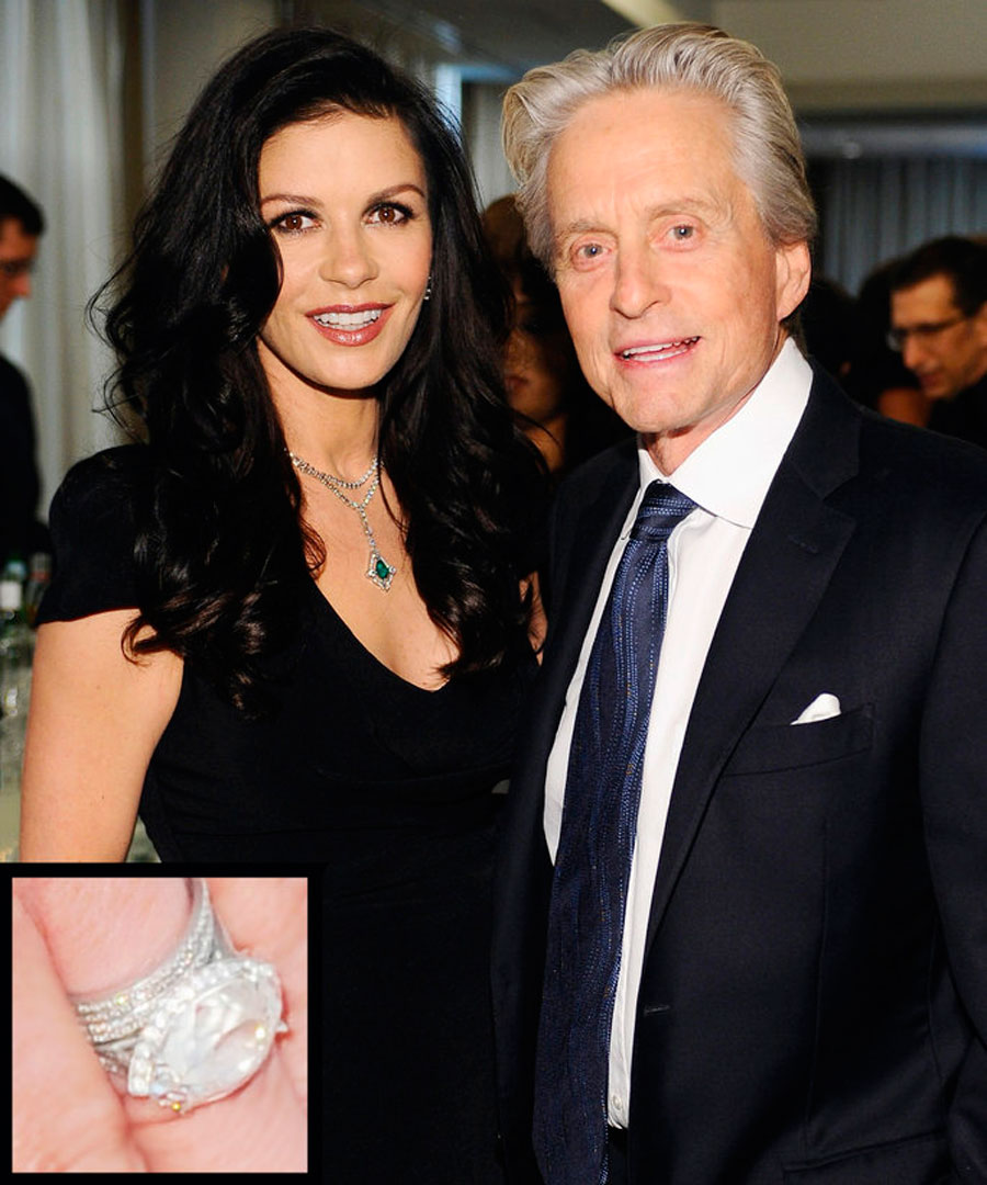 anillos-36. 36. Catherine Zeta-Jones y Michael Douglas