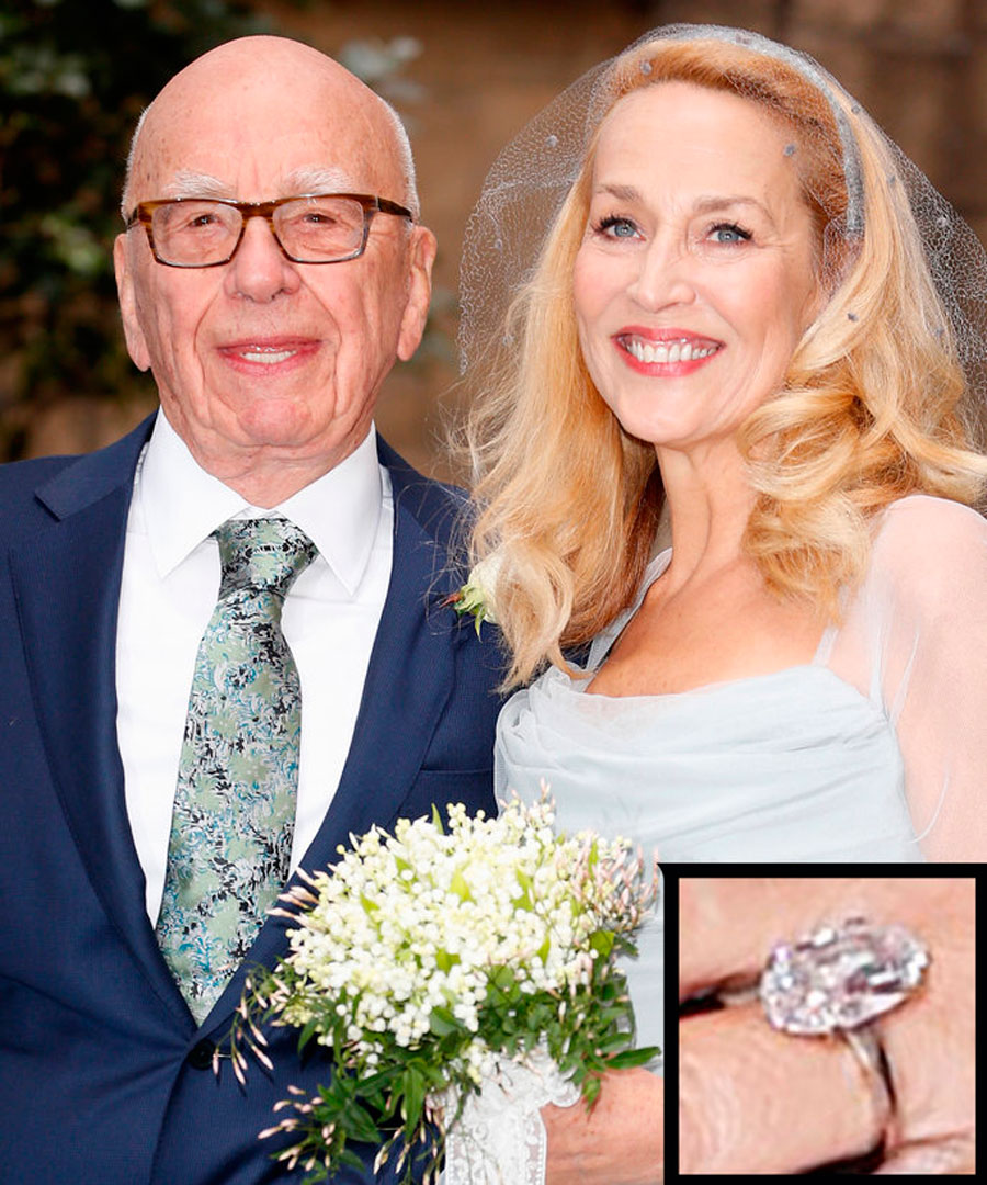 anillos-45. 47. Jerry Hall y Robert Murdoch