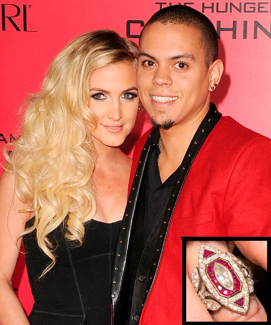 anillos-55. 55. Ashlee Simpson y Evan Ross