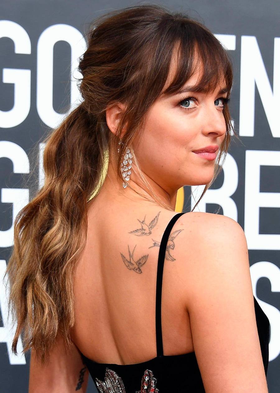 022018-simple-updos-1. Dakota Johnson