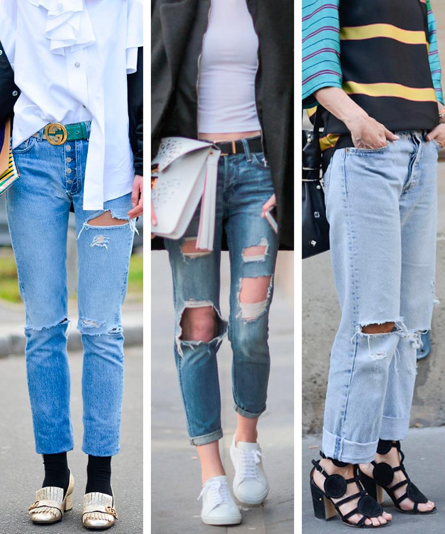 b8d94a8f7  Jeans  desgastados  los pantalones vaqueros rotos pueden dar mucho