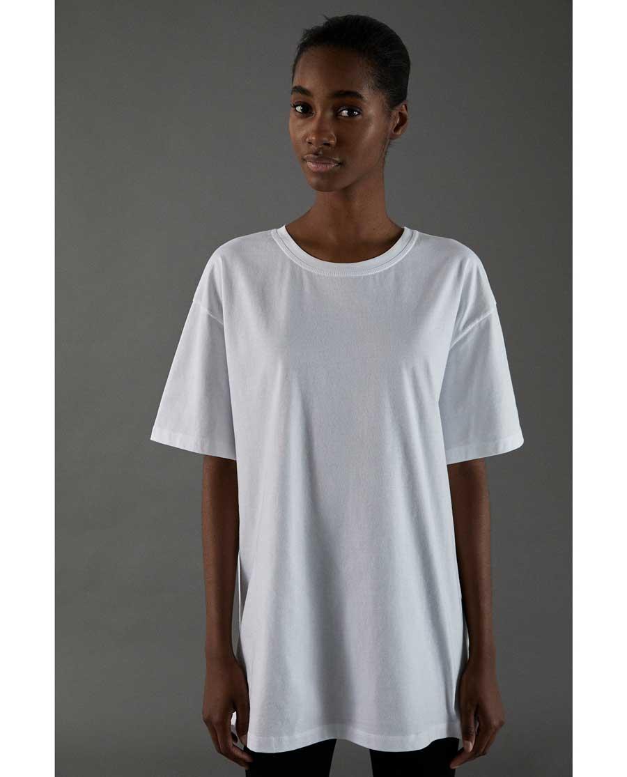 De Zara Blanca Basica Camiseta La Zara ' O4f7Ewq
