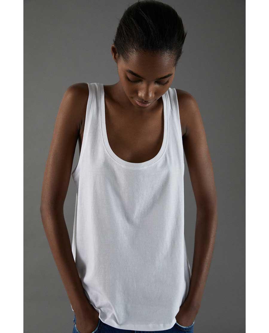 De Combinar 2018 Blanca Zara Camiseta Básica Esta Cómo Primavera Tu kiOPZXu