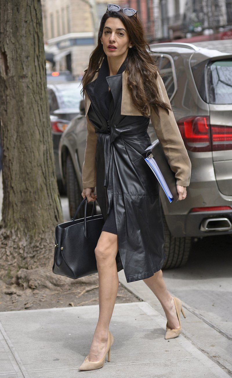 Amal Clooney Alexander Wang Trench
