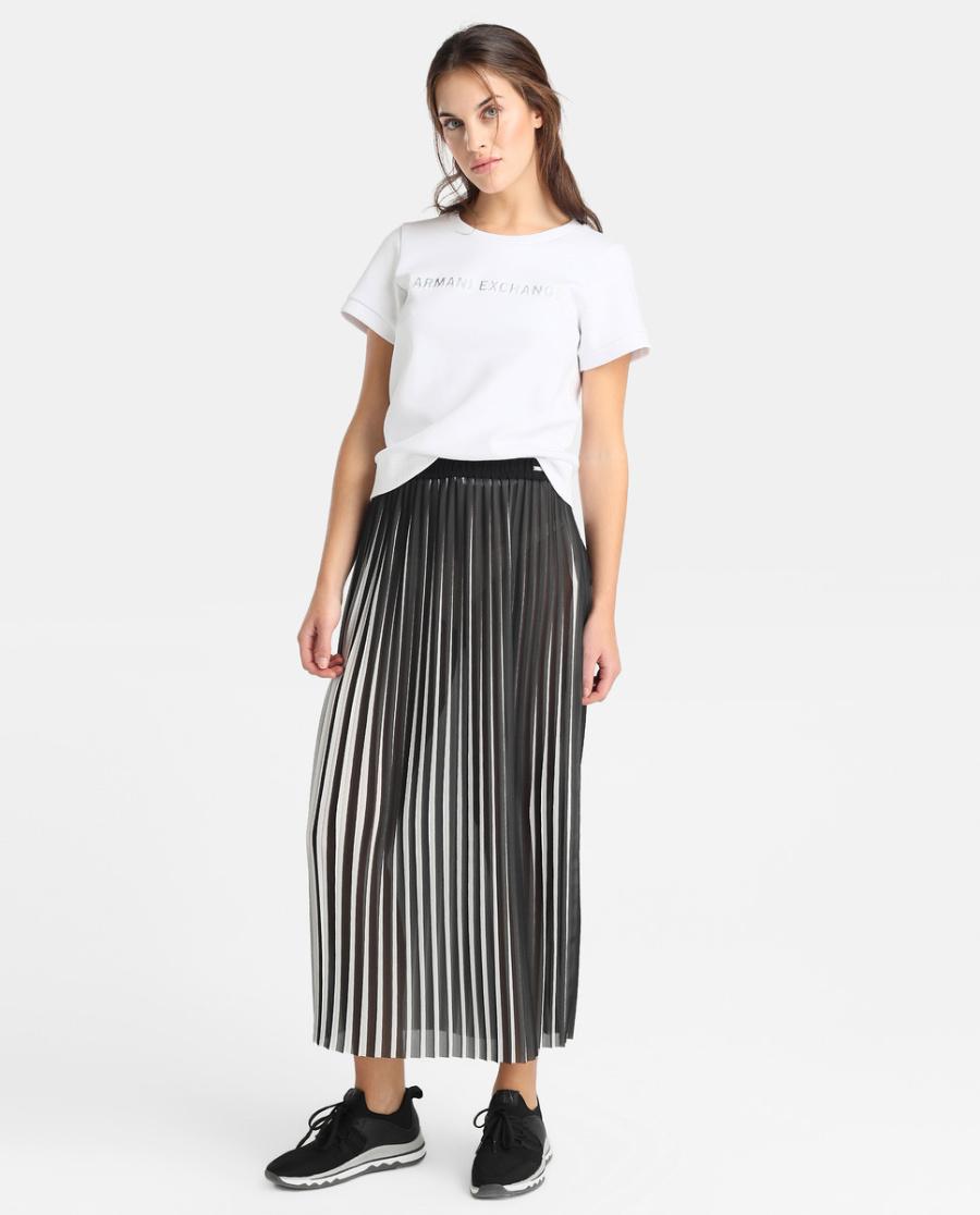 1f2e08191 ECI ARMANI EXCHANGE Falda larga plisada de mujer Armani Exchange con  cinturilla elástica 140€.