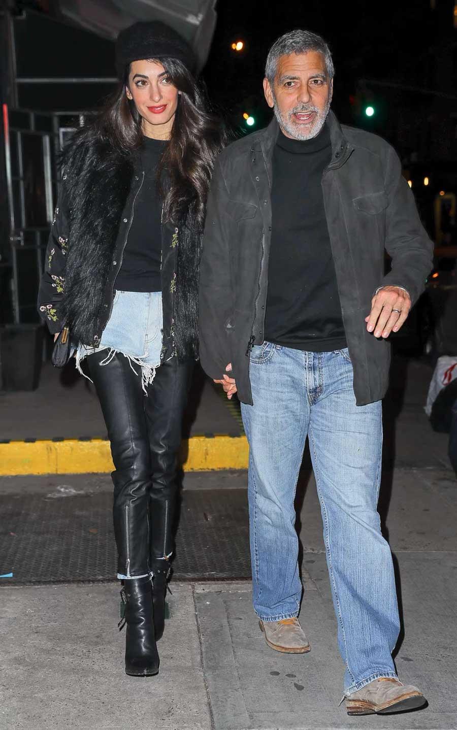 Amal-clooney-look-doble-pantalon. Amal Clooney sorprende con su  superposición fcbded1e3b85