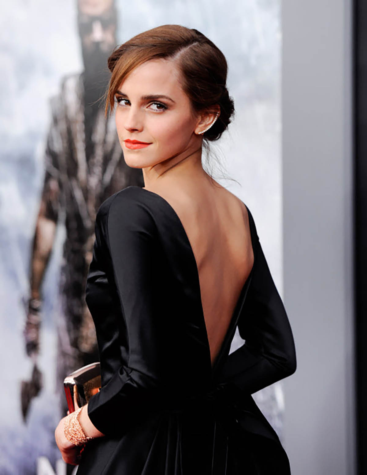 20. Emma Watson attending the premiere of Noah. Maquillaje 'top'