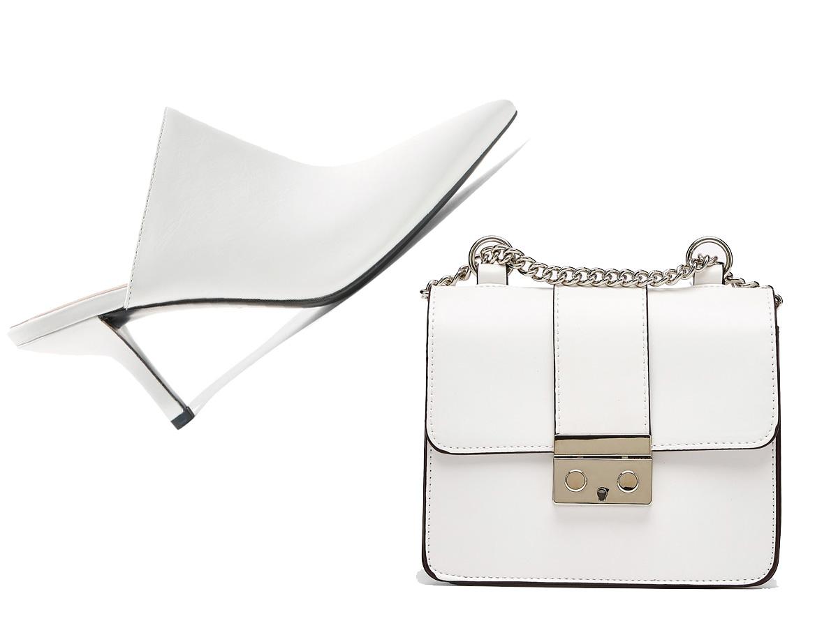 653e590605e Zapatos blancos + bolso blanco