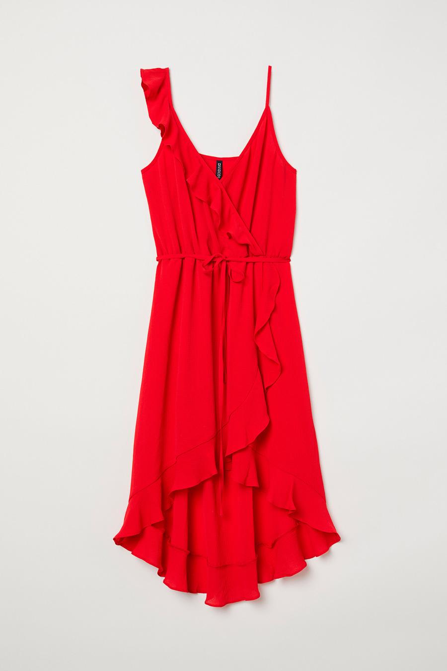 0937acb3659 hm-vestido-crepe. Vestido cruzado en crepé  el más romántico del verano