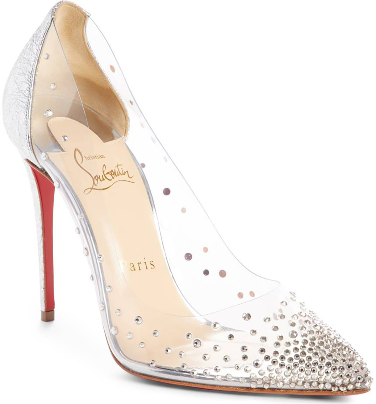 christina-louboutin-degastrass-clear-embellished-pumps. Los zapatitos de cristal