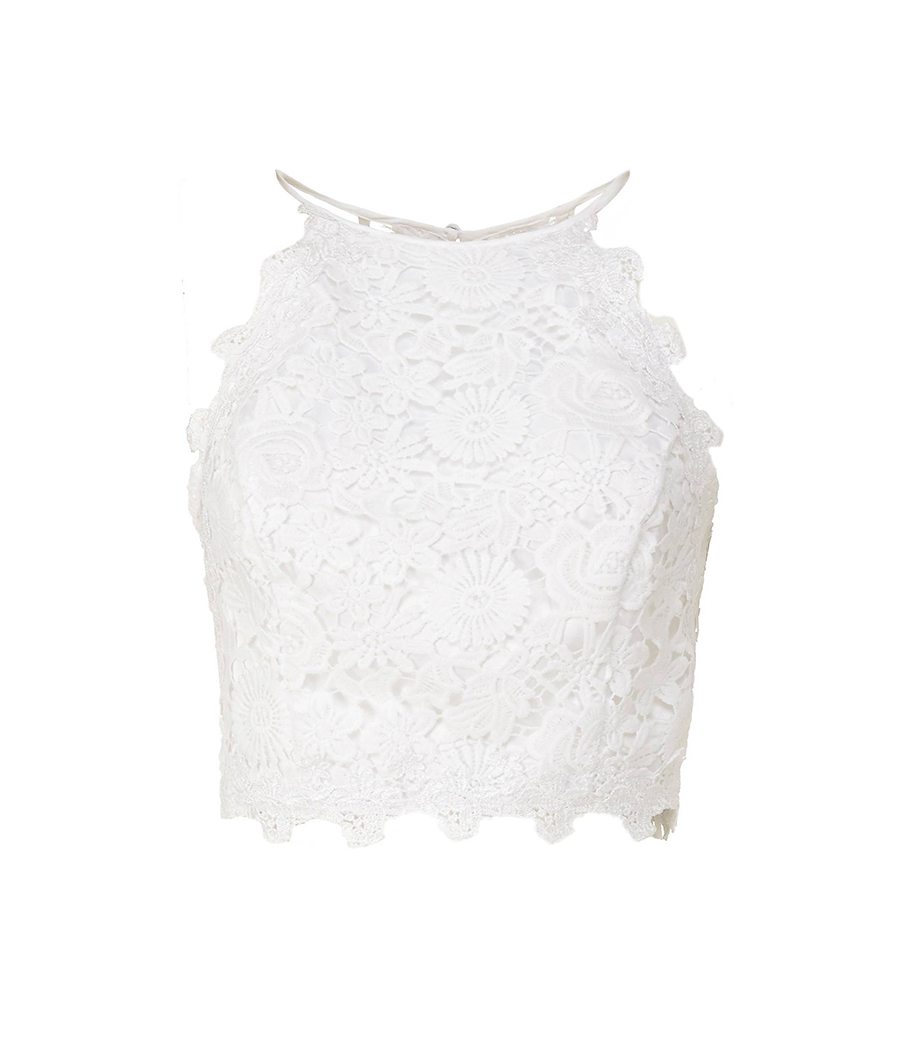 Top de Guess 69,90 €. Top blanco romántico