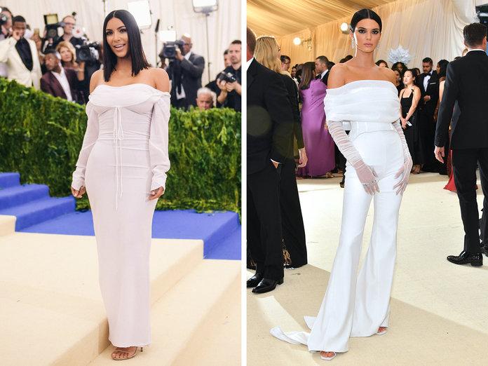kendall jenner copia el look de kim kardashian en la gala met de