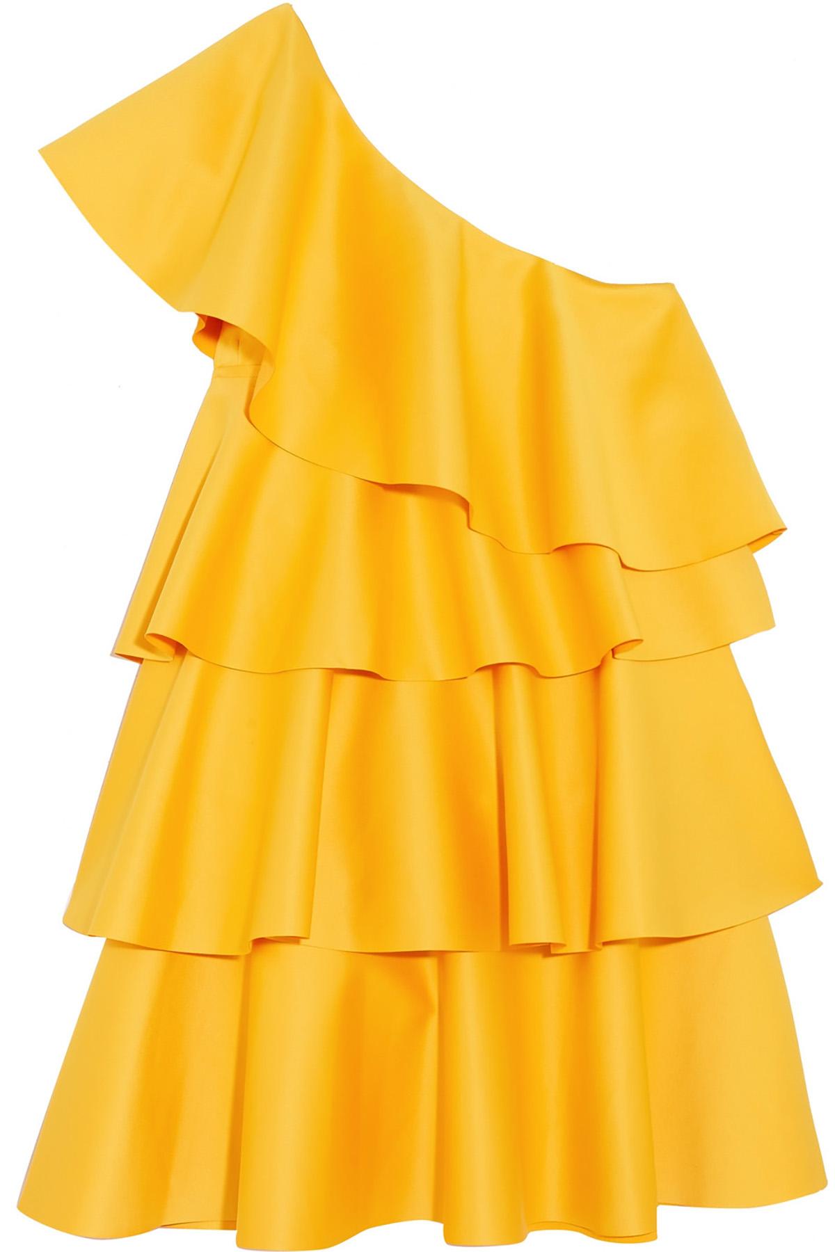 Vestidos De Invitada Color Mostaza De Primavera 2018