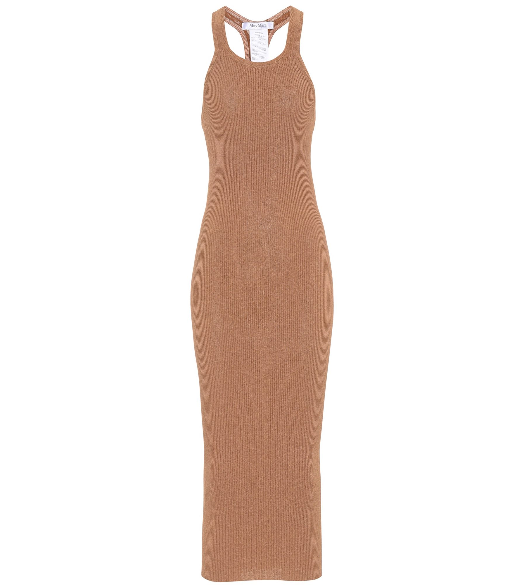 max-mara-vestido-bodycon-camel. Vestido 'bodycon' color camel