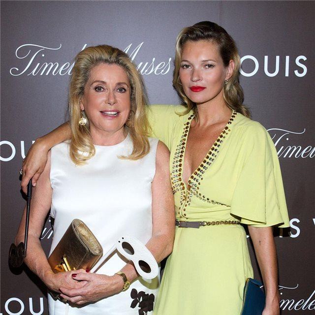 Catherine Deneuve y Kate Moss, fans de Louis Vuitton