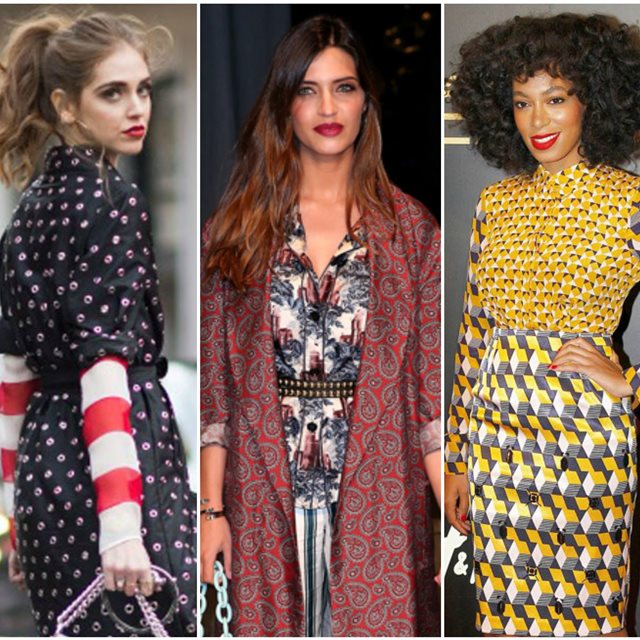 Ideas para combinar estampados como una 'it girl'