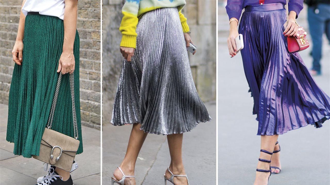 14d93f1293 Faldas plisadas metalizadas  cómo llevarlas - InStyle