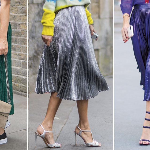 0475aa513 Falda plisada de moda primavera-verano 2019, cómo se llevan según ...